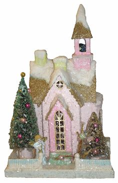 Christmas Houses - Cody Foster Pink Glitter Chapel