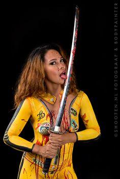 Kill Bill bodypainting  Model: Isla Modello  Bodypainter and photographer: shooten.nl