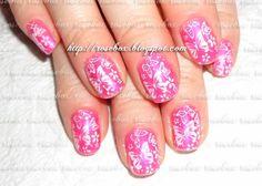 nail art, unhas carimbadas
