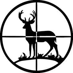 Deer Hunting Silhouette Clipart