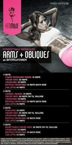 Arms +  obliques by fitmiss #workout #exercise #beast #chady #dunmore