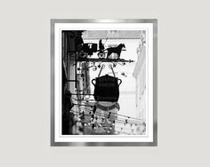Kitchen Art Paris Cafe photography Extra Large Wall art by RivuletPhotography #blackandwhite #paris #pariscafe #etsyfinds #photography #print #wallart #homedecor #buyonline #ElenaAnufrieva #buyart