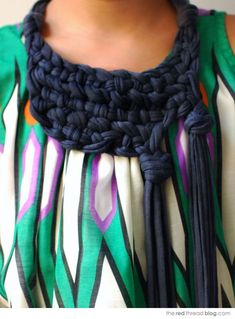 DIY chunky knotted necklace
