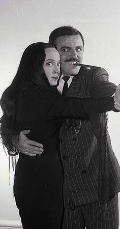 Carolyn Jones as Morticia and John Astin as Gomez in The Addams Family