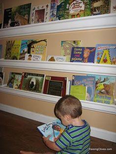 Here's the tutorial:  http://raisingolives.com/2009/07/raingutter-book-shelves-tutorial/