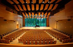 Music at Skidmore College Auditorium Architecture, Auditorium Design, Church Architecture, Architecture Design, Hall Design, Church Design, Theater Plan, Theatrical Scenery, Sound Stage
