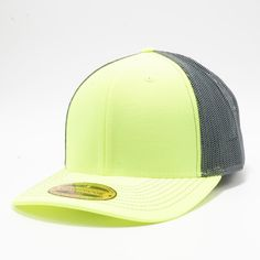 3a59197566dac5 PB222 Pit Bull Neon Cambridge Trucker Hat [N.Yellow/Charcoal] Neon Yellow