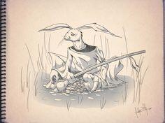 Conejo samurai