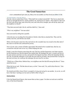 The Good Samaritan – Cranial Hiccups The Good Samaritan Lesson, Good Samaritan Craft, John 13 34, Ad Libs, Sunday School Crafts, New Testament, Bible, Good Things, Thoughts