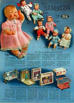 Thumbelina dolls ad