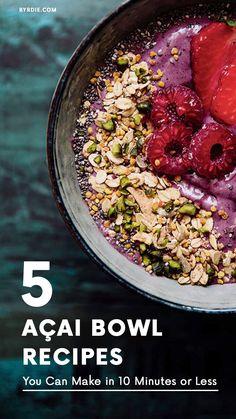 How to make an açai bowl