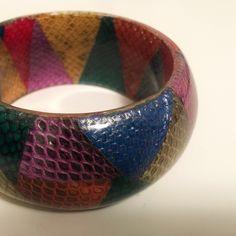 Etro Milan bracelet Etro multicolor snakeskin patchwork bangle. Brand new. Never worn. In box with dust bag. Etro Jewelry Bracelets