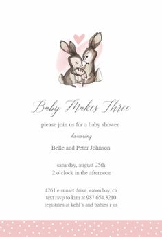 Pink Baby Elephant Free Printable Baby Shower Invitation Template - Pink baby shower invitation templates