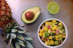 Baked Cod with Pineapple Avocado Salsa