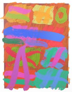 Albert Irvin, monoprint screenprint