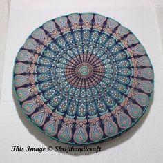 32 Quot Blue Patchwork Round Indian Floor Pillow Boho