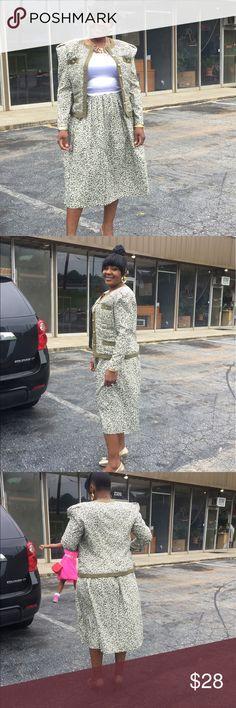 2pc structured jacket blazer flare skirt suit set Stylish Skirts Skirt Sets