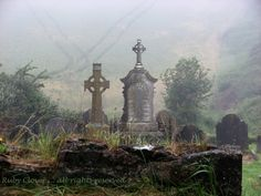 Bunmahon Co. Waterford Ireland with Celtic Cross Headstone