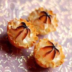 рецепта: Пирожное из теста фило с меренгой