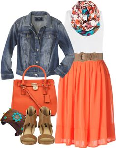 """""""Coral Skirt - Plus Size"""" by alexawebb ❤ liked on Polyvore"""