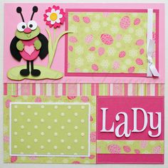 12x12 premade scrapbook pages Lady Bug by gautierdesigns on Etsy. , via Etsy.