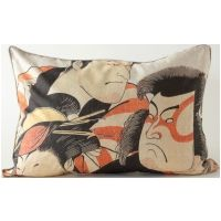 Kabuki Actors Lumbar Pillow
