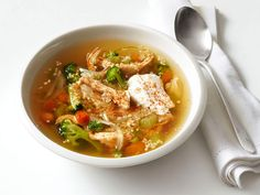 Get this all-star, easy-to-follow Chicken and Quinoa Soup recipe from Food Network Magazine. http://www.foodnetwork.com/recipes/food-network-kitchens/chicken-and-quinoa-soup-recipe.html