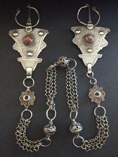 Set of silver Moroccan Berber fibulas
