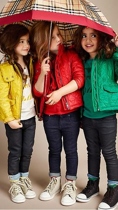 Quilted Hooded Jacket | Burberry Children