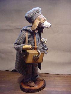 Organ Grinder Hound Dog and his pet Monkey. decamp