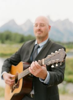 {Music} - Guitarist in the mountains