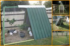 DIY Old Swing Set Chicken Coop - re-purpose that old swing into a sturdy coop... #chickens #homesteading