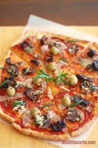 Pizza dough with almond and cream cheese