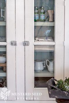 Farmhouse White Cupboard - Miss Mustard Seed