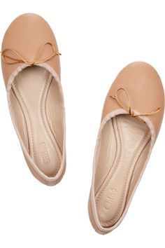 Chloé|Leather ballet flats|NET-A-PORTER.COM    Soft and beautifully done.