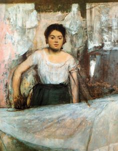 """Edgar Degas """"Woman Ironing"""" 1869 (Neue Pinakothek, Munich)"""