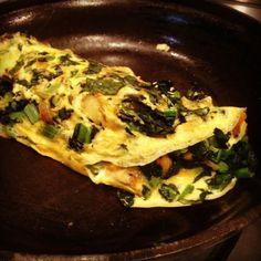 Tuscan kale & potato omelette