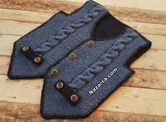Twisted Turkish Efe Baby Vest Pattern - knitting for babies Baby Knitting Patterns, Baby Sweater Knitting Pattern, Vest Pattern, Free Pattern, Fall Knitting, Crochet Baby Jacket, Knit Crochet, Toddler Jerseys, Gentlemen Wear