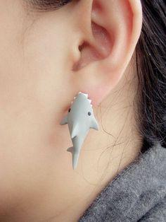 Shark earrings! #fashion Use rep code: MEMBER at Karmaloop.com for a discount - memberdiscountcodes.com | vanfl.org