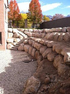 Rock Retaining Walls, Driveways, Landscape, Sandy, Utah, UT