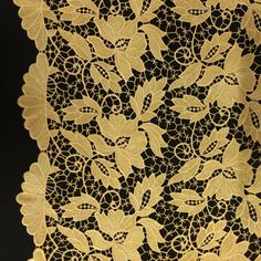 Gold Vineyard Guipure French Venice Lace