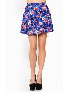 Wild Blossoms Skater #Skirt
