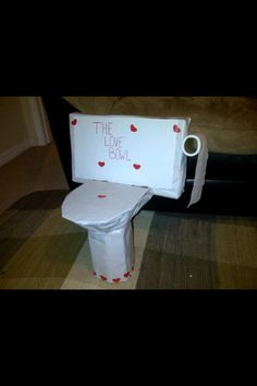 Toilet Bowl Valentines Day Box!
