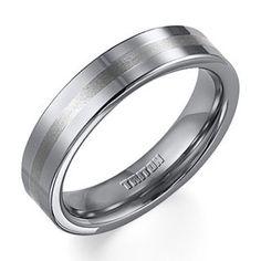 Triton Men's 5.0mm Comfort Fit Tungsten Stripe Wedding Band - Size 10   Wedding Bands   Wedding   Peoples Jewellers