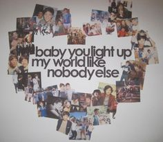 What Makes You Beautiful lyrics w/ One Direction collage