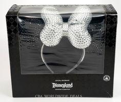 Disney Disneyland 60th Diamond Celebration Crystal Headband Minnie Mouse Ears | eBay