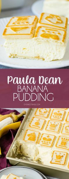 Paula Deen Banana Pudding - Oh Sweet Basil Paula Dean Banana Pudding, Banana Pudding From Scratch, Banana Cream Pudding, Homemade Banana Pudding, Banana Pudding Recipes, Pudding Desserts, Cheesecake Desserts, Parfait Desserts, Fun Desserts