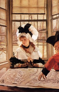 James Jacques Joseph Tissot (1836-1902)  The Tedious Story  Oil on canvas  c1872