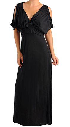 d6672d0fb2e78 Funfash Plus Size Clothing Women Black Cold Open Shoulders Dress Made in  USA - FunFash