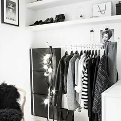 Minimal closet inspo,for my ever expanding closet  (via : Pinterest) . . . . #minimaldesign #interiordesign #contemporary #minimalistics #minimalobessesion #minimalistlifestyle #minimalcloset #minimalhunter #interiordecor #pinterest #minimal_world #minimalshots #homedecor #homedesign #homestyle #decor #blackandwhite #whywhiteworks